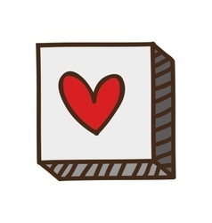 Button with heart icon vector