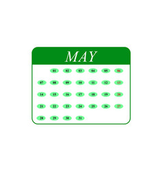 calendar may month icons vector image