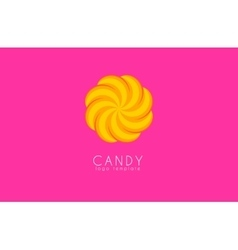 Candy logo Creative logo Colorful logo design vector image