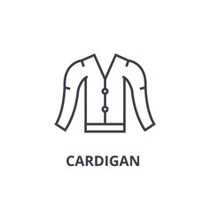 cardigan line icon outline sign linear symbol vector image