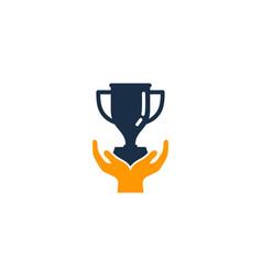 Care trophy logo icon design vector