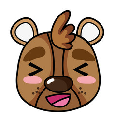 Cheerful bear head wild animal vector