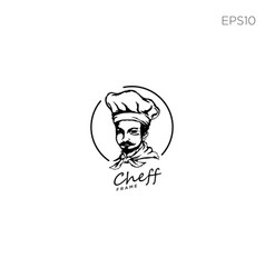 Cheff logo icon or symbol element isolated vector
