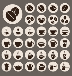 coffee icons set vector image