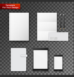 company corporate style template design vector image