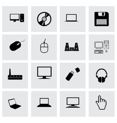 compute icon set vector image