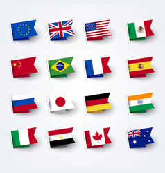 different flags world set vector image
