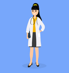 Doctor pediatrician in hospital flat design vector