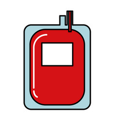 donate blood bag isolated icon vector image