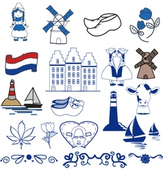 Dutch elements vector