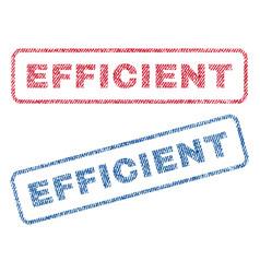 Efficient textile stamps vector