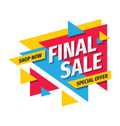 final sale concept promotion banner discount vector image