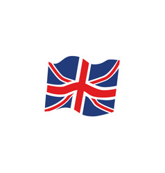 flat union jack britain flag icon vector image