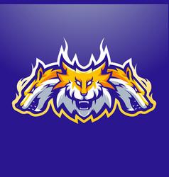 Fox mascot logo vector