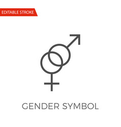 gender symbol icon vector image vector image