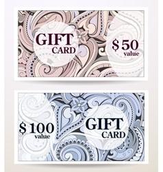 Gift card design vector