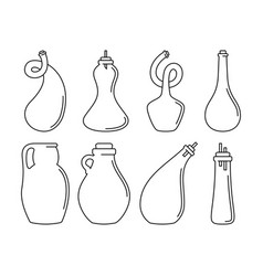 glassware instruments in linear style vector image