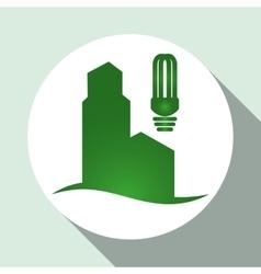 Go green design eco concept white background vector