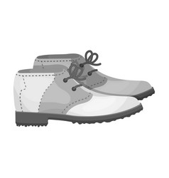 golfer shoesgolf club single icon in monochrome vector image