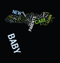 Good baby care text background word cloud concept vector