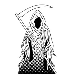 Grim reaper coloring book vector