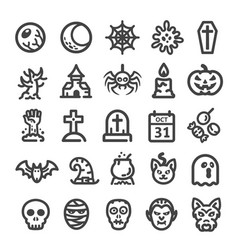 halloween line icon vector image