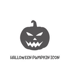 halloween pumpkin icon simple flat style vector image