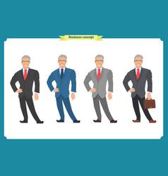 happy elegant businessman in suitstanding person vector image