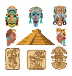 historical symbols mayan culture religion vector image