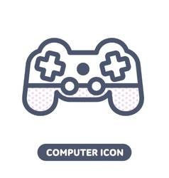 icon game pad joystick vector image