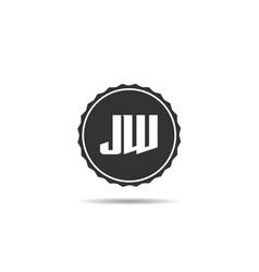 Initial letter jw logo template design vector