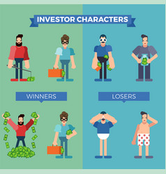 Investor characters set vector