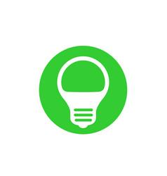 Led light bulb icon vector