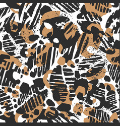 leopard seamless pattern abstract nature coffee vector image