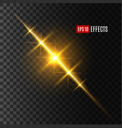 light flash or sun and star shine effect vector image