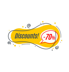 Linear promotion banner shape price tag sticker vector