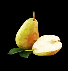 Low poly pear vector