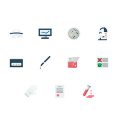 Medical expertise flat icons set vector