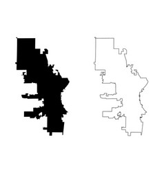 Milwaukee city map vector