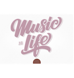 music is life volumetric hand drawn vector image