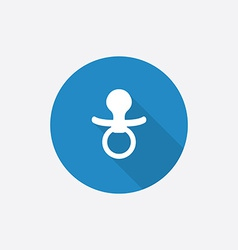 nipple Flat Blue Simple Icon with long shadow vector image