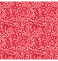Oriental flowers pattern vector