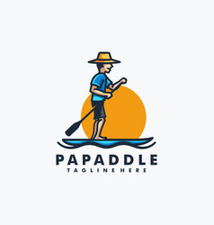 papa paddle design concept template vector image