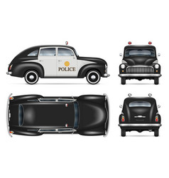 Police car mockup isolated vehicle template vector