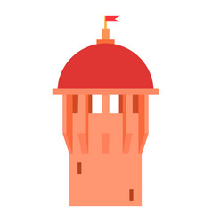 Red ancient dome of the castle icon cartoon style vector