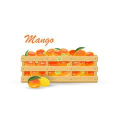 Ripe tropical fruit mango vector
