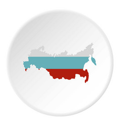 russia map icon circle vector image