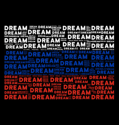Russian flag pattern of dream words vector