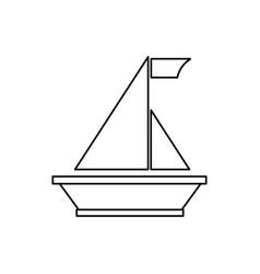 sail boat symbol vector image
