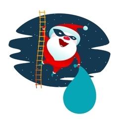 Santa Claus masked superhero vector